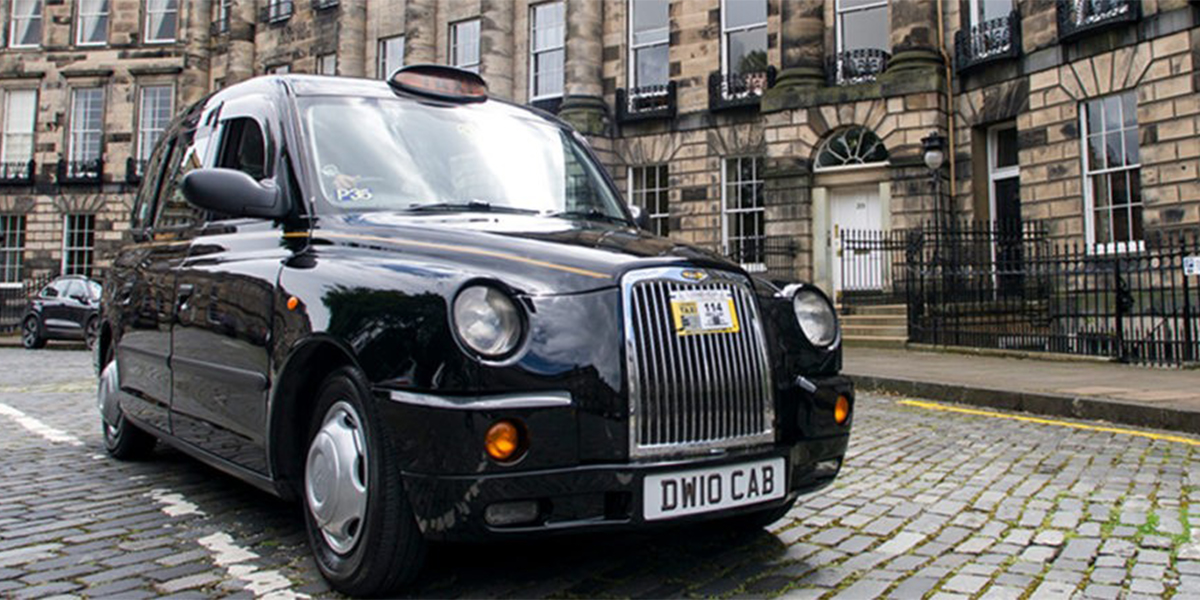 Central Taxis vehicle in Edinburgh