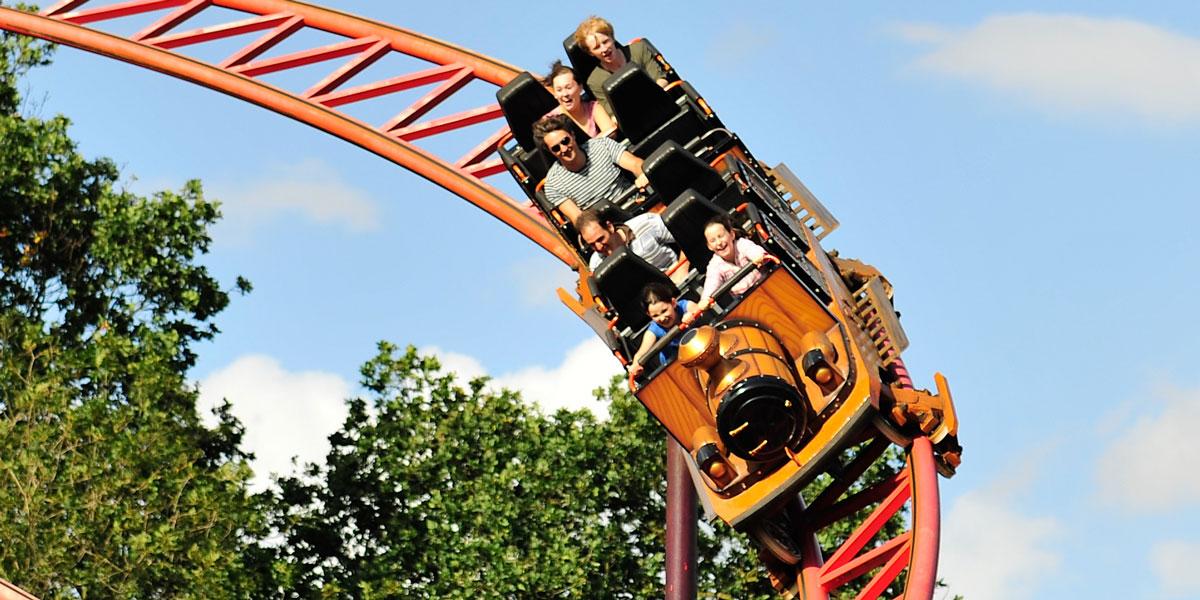 Rollercoaster at Pleasurewood Hills Theme Park in Suffolk
