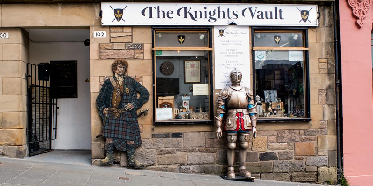 The Knights Vault, in Edinburgh - exterior