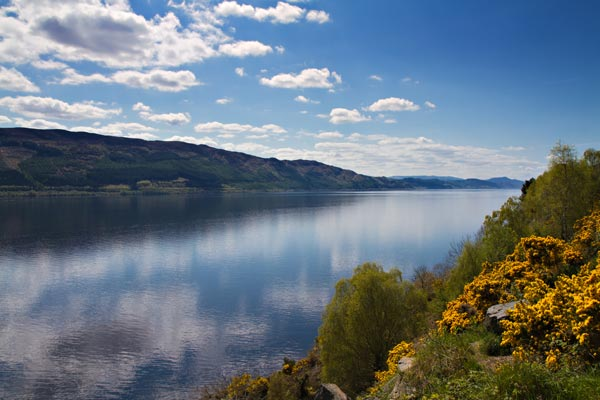 Loch Ness Lake in the Scottish Highlands