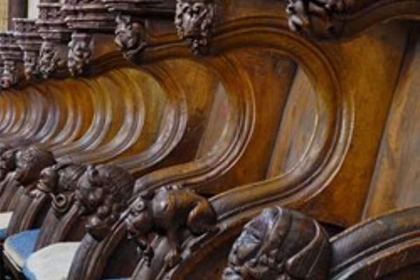 Worcester Cathedral carved pews