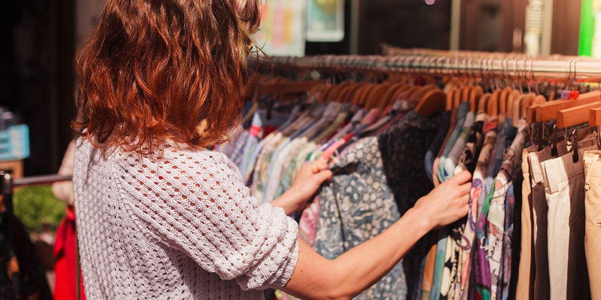 Women vintage shopping