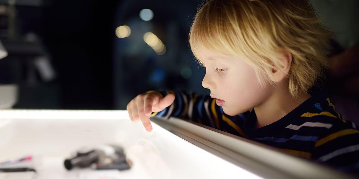Child in museum