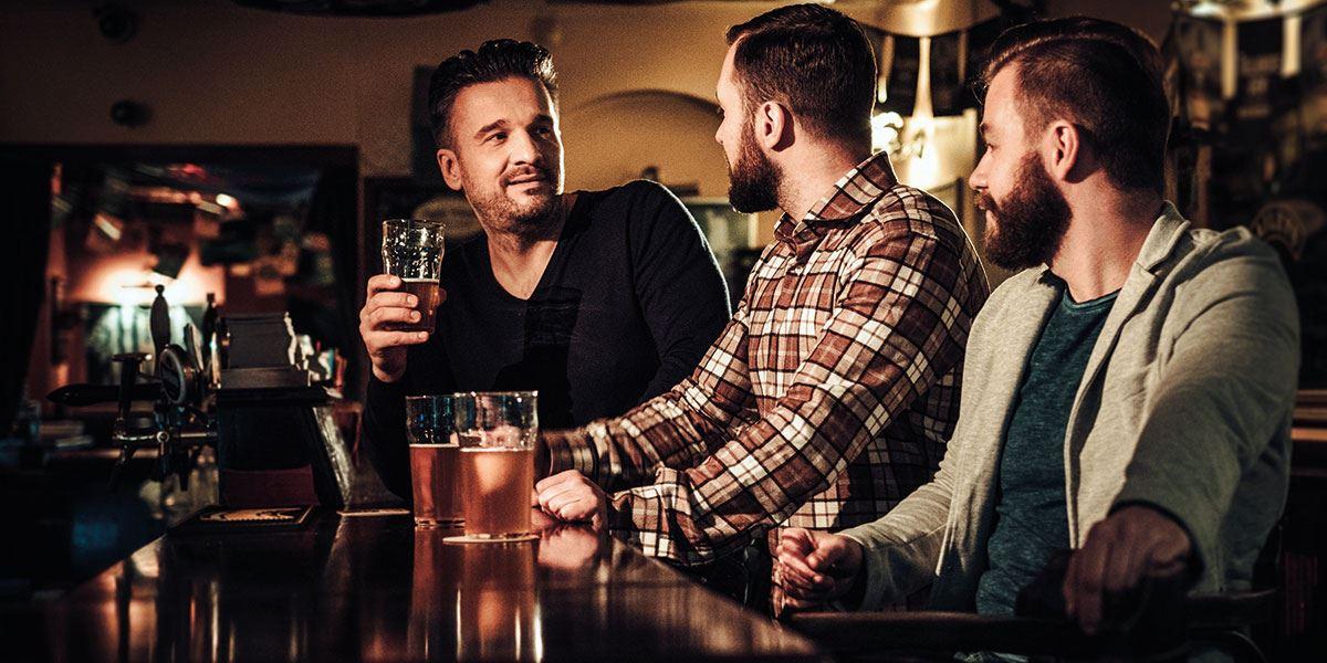 Friends in the pub