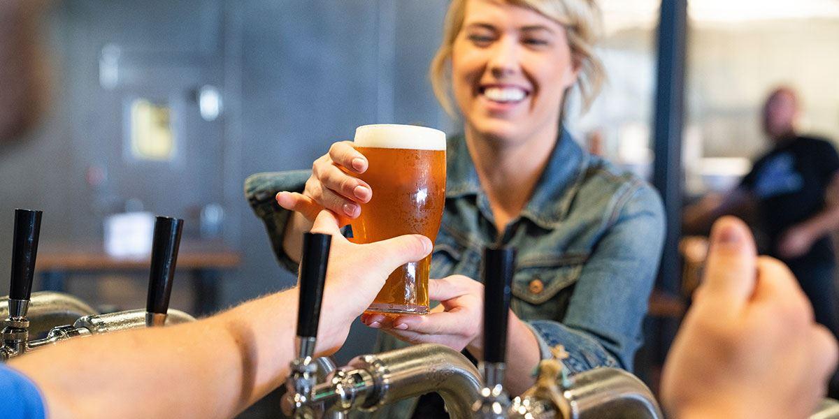 Serving a beer