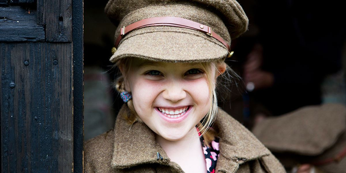 Girl at Chiltern Open Air Museum